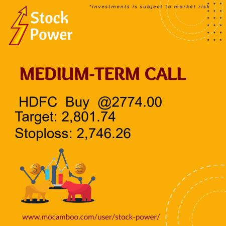 Live  HDFC  Buy  @2774.00    Trading Call