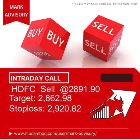 Live  HDFC  Sell  @2891.90    Trading Call