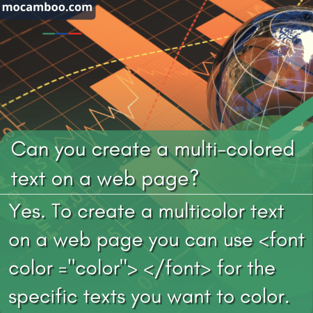 Can you create a multi-colored text on a web page?