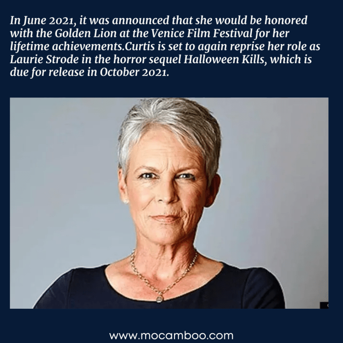 In June 2021, it was announced that she would be honored with the Golden Lion at the Venice Film ...