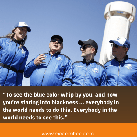 """""""To see the blue color whip by you, and now you're staring into blackness … everybody in the wor ..."""