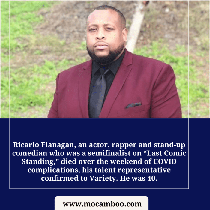 """Ricarlo Flanagan, an actor, rapper and stand-up comedian who was a semifinalist on """"Last Comic S ..."""