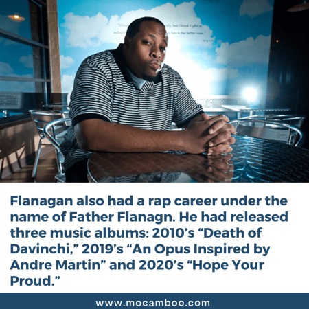Flanagan also had a rap career under the name of Father Flanagn. He had released three music alb ...