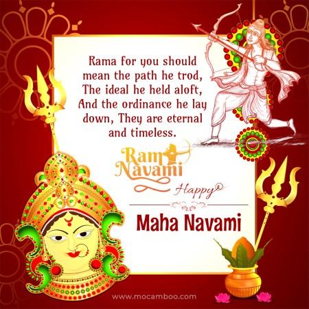 Happy Ram Navami! Maha Navami