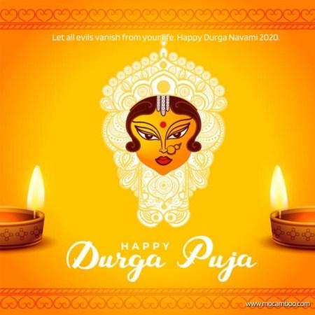 Let all evils vanish from your life. Happy Durga Navami 2020.