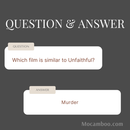 Which film is similar to Unfaithful?