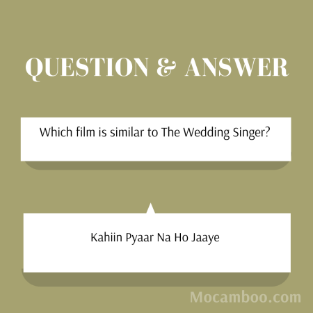Which film is similar to The Wedding Singer?