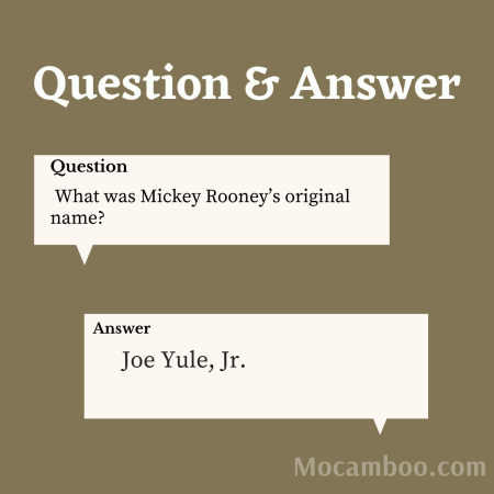 What was Mickey Rooney's original name?