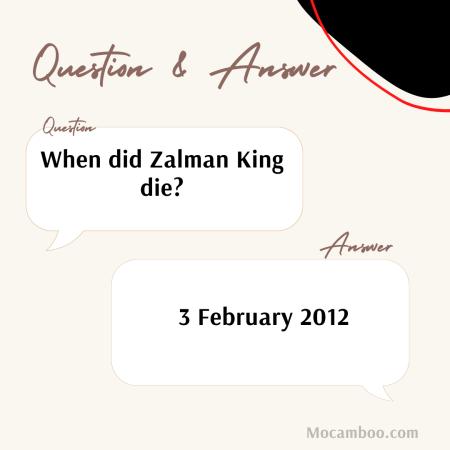 When did Zalman King die?