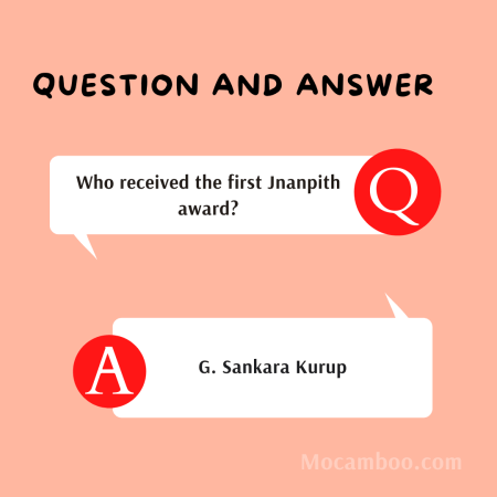 Who received the first Jnanpith award?