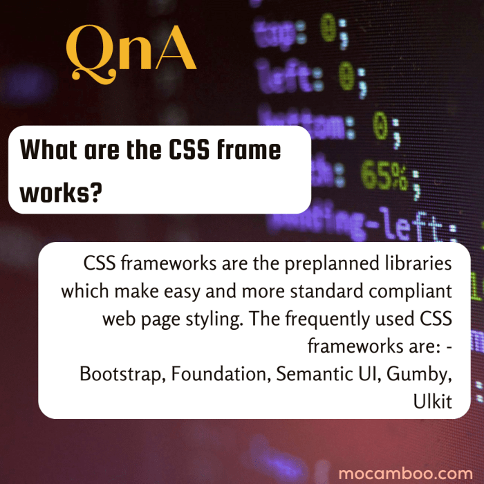 What are the CSS frameworks?