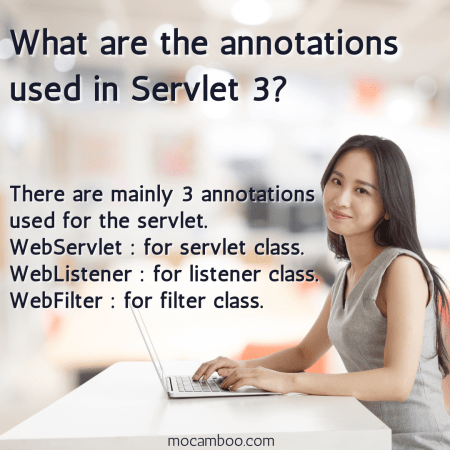 What are the annotations used in Servlet 3?