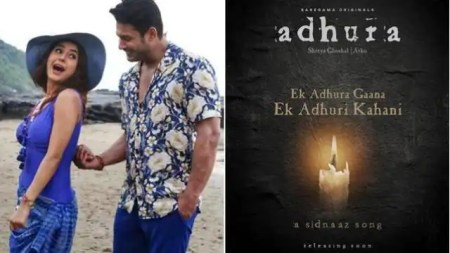 sidharth shukla shehnaaz gill Last song poster features a candle and was titled Adhura Ek Adhura ...