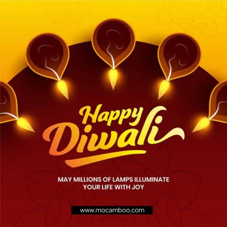 """""""May millions of lamps illuminate your life with joy. – Happy Diwali"""""""