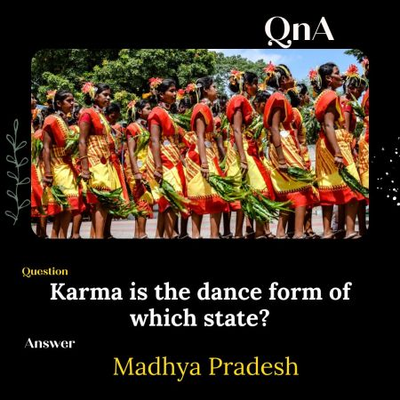 Karma is the dance form of which state?