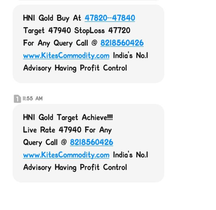 Gold Locked 100 Points & Net Profit Of Rs. 1Lac in 10 Lots By Www.KitesCommodity.Com / Get I ...