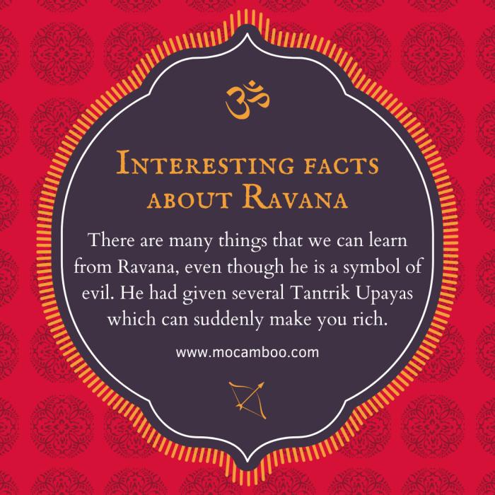 Interesting facts about Ravana