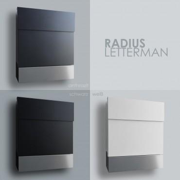 Radius Briefkasten Letterman 5 anthrazitgrau RAL 7016 mit