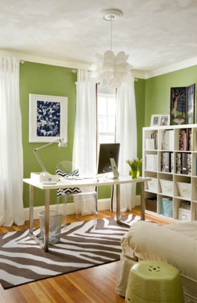 green home office How to use colour in your home office to increase productivity – Mocha Casa Blog