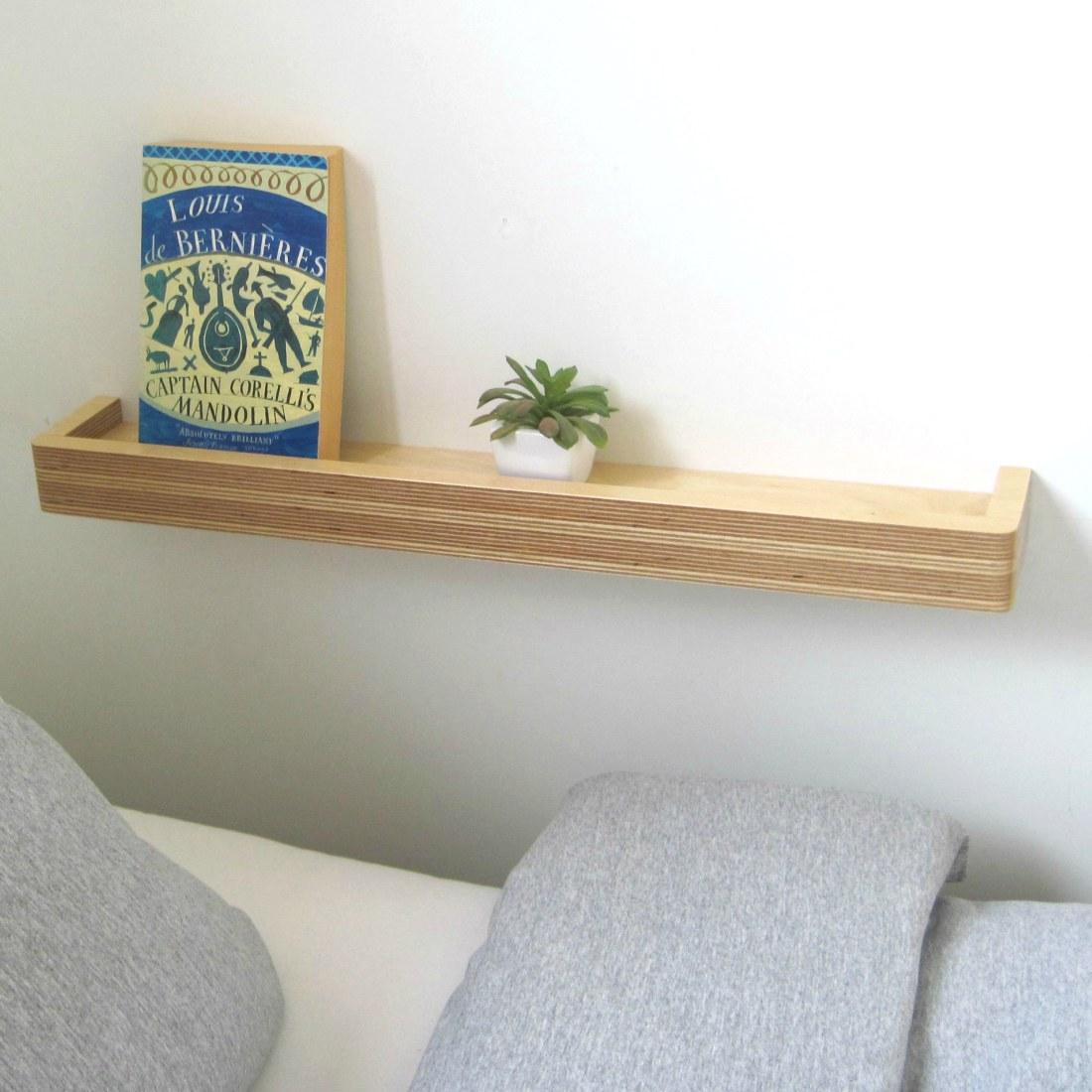 Slimline Floating Shelf  Homeware Furniture And Gifts  Mocha
