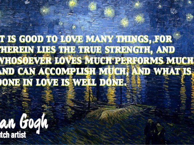 Inspirational Quote - Vincent Van Gogh