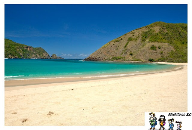 Bahía playa Mawun Beach Lombok