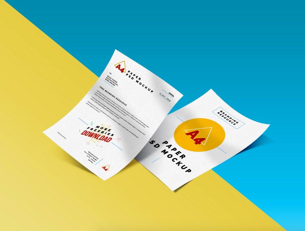 Download A4 Paper Mockup | Mockup World