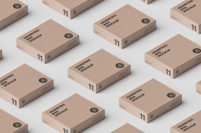 Download Rectangular Cardboard Boxes Mockup   Mockup World
