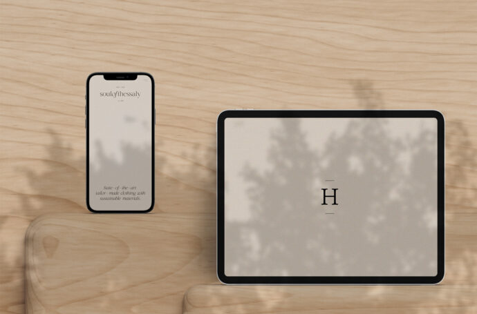 iphone mockup held by women with text & Iphone Archives Mockup World