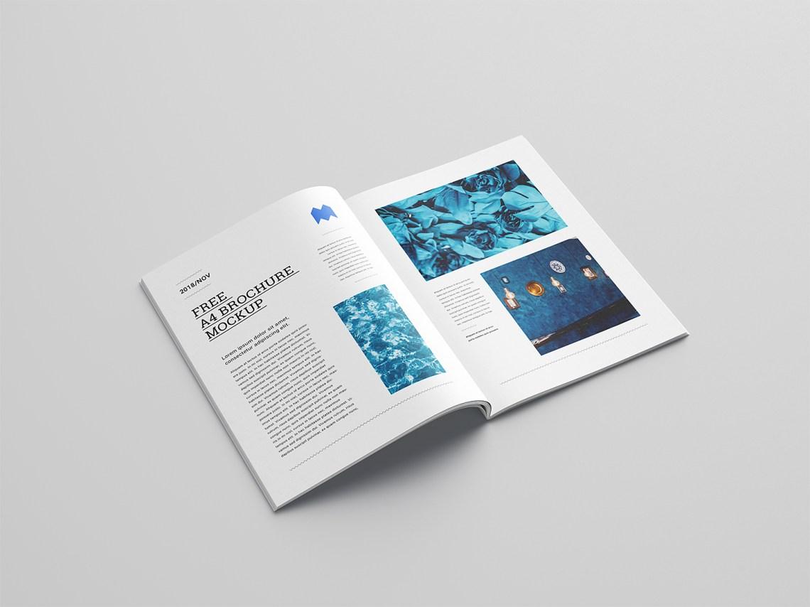 Download A4 Brochure Free Mockup | Mockup World HQ