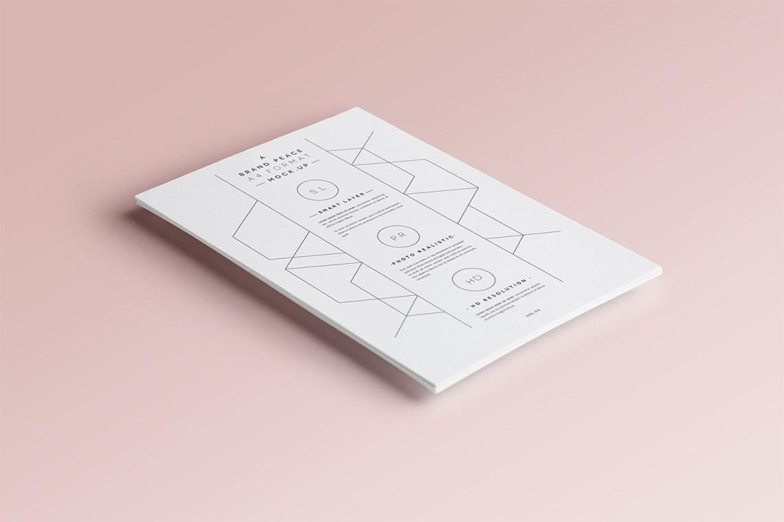 Download Free A4 Paper PSD Mock-Up | Mockup World HQ