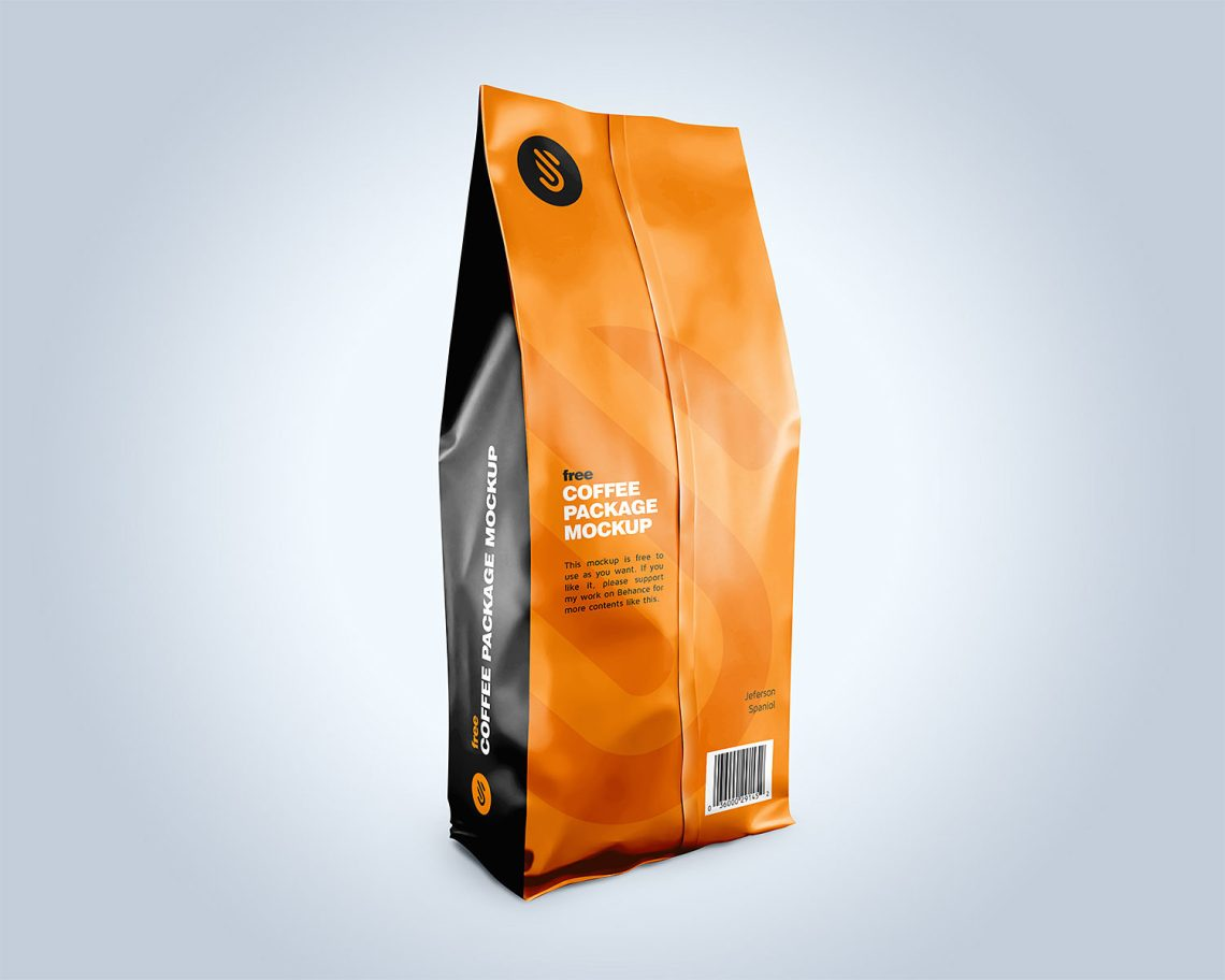 Download Free Coffee Pouch Packaging Mockup | Mockup World HQ