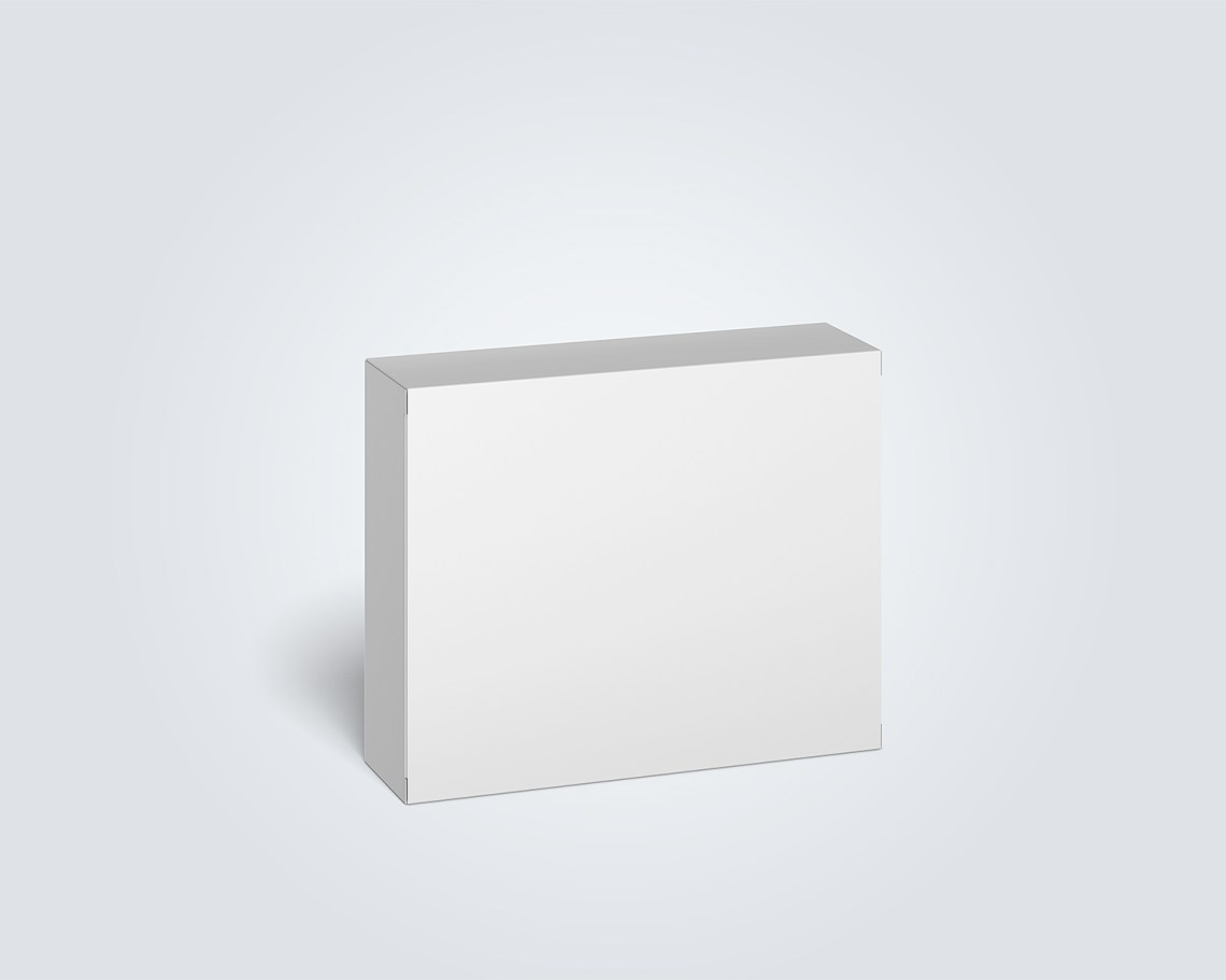 Download Free Cardboard Box Mockup | Mockup World HQ