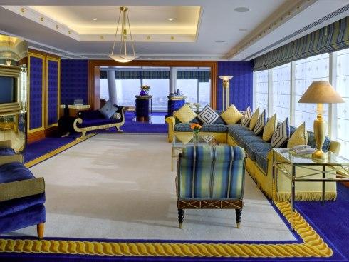 Dubai hotel Burj ala Arab interior room