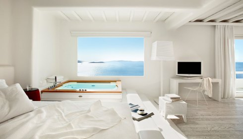Greece Mykonos island room of Hotel Cavo Tagoo
