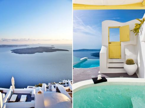 Luxury vacation in Greek island Santorini