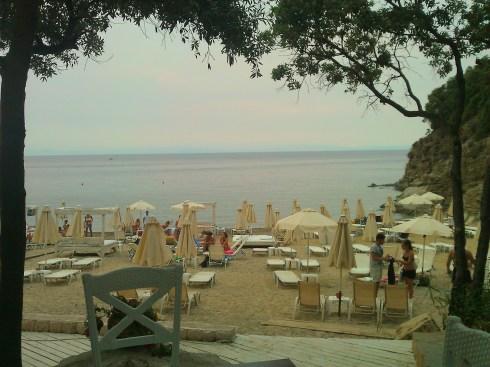 Greece halkidiki Sithonia beach akti zografou Bahia bar