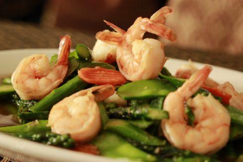 Gourmet dish at 7 seas restaurant