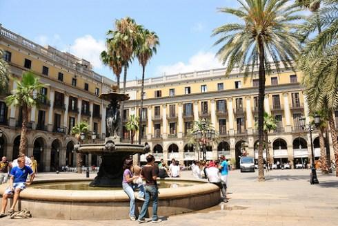Spain Barcelona Placa Reial Las Ramblas