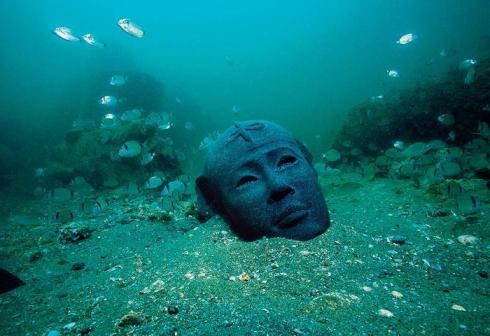 Underwater ancient lost city