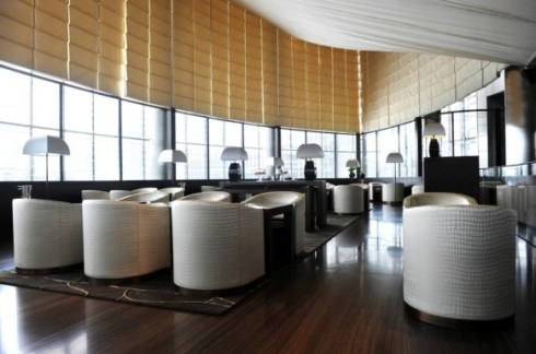 interior of Armani hotel in Burj Khalifa, Dubai