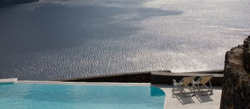 view from the Beautiful villa in Santorini Greece