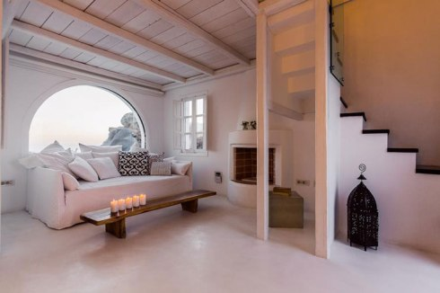 room of the Beautiful villa in Santorini Greece 6