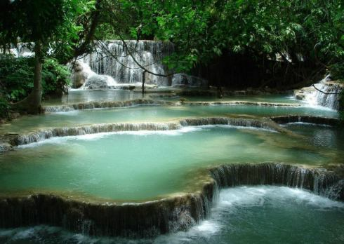 most beautiful natural pools Luang Prabang, Laos