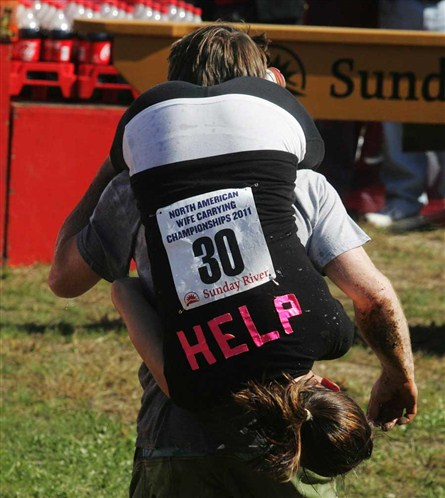 World's most interesting festivals, wife carrying