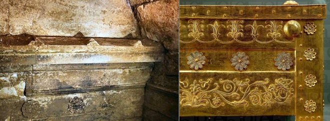 parallels between Verginas tombs and the new finds at Amphipolis, larnax