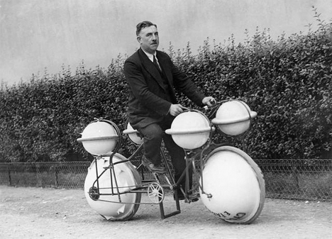 strange old timey inventions, Amphibious Bicycle