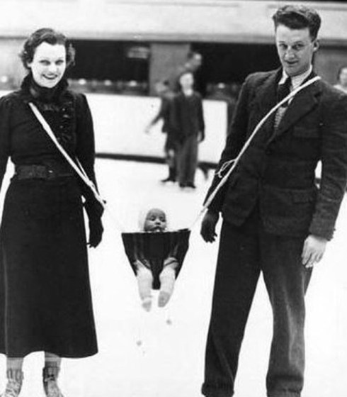 strange inventions from the past, baby dangler
