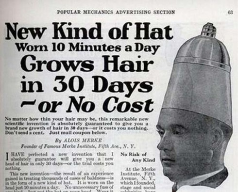 strange old timey inventions, hair growth