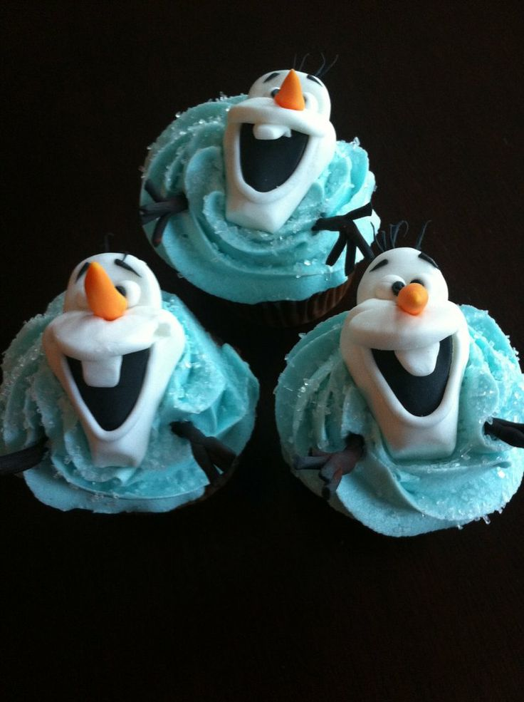 the cutest olaf cupcakes